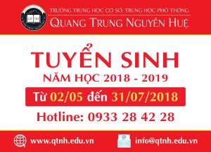 Tuyển sinh năm học 2018 - 2019