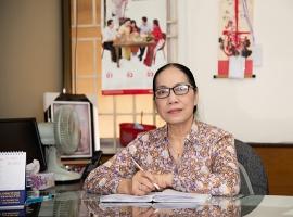 Cô Lã Thị Thanh Phương - Nguyên Trưởng phòng Giáo dục và đào tạo Quận 10