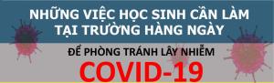 Những việc cần làm để phòng chống dịch COVID-19