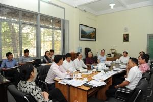 Sinh hoạt Hội đồng cố vấn Chuyên môn vào dịp cuối năm, chuẩn bị tổng kết năm học và tham dự kỳ thi quốc gia