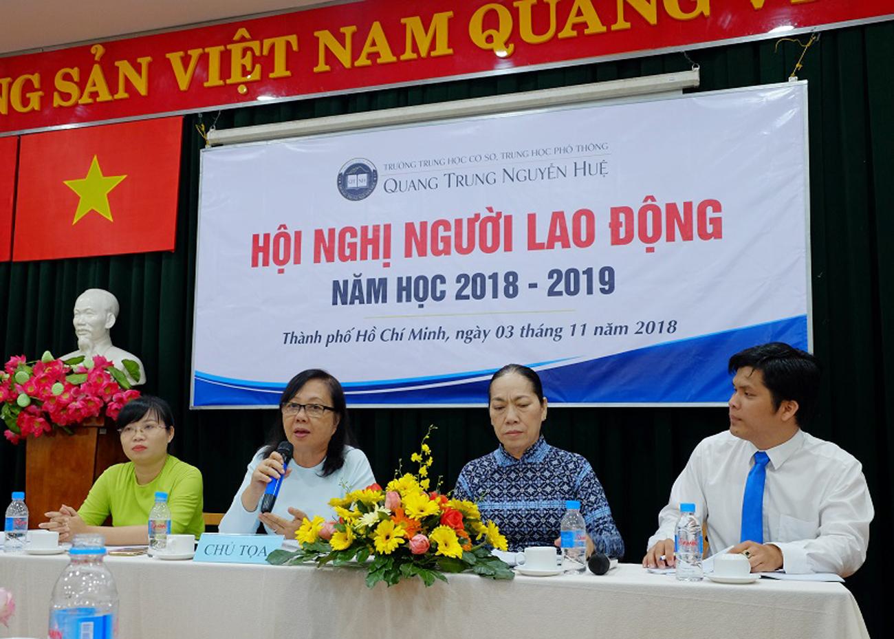Hội nghị Người lao động năm học 2018 - 2019
