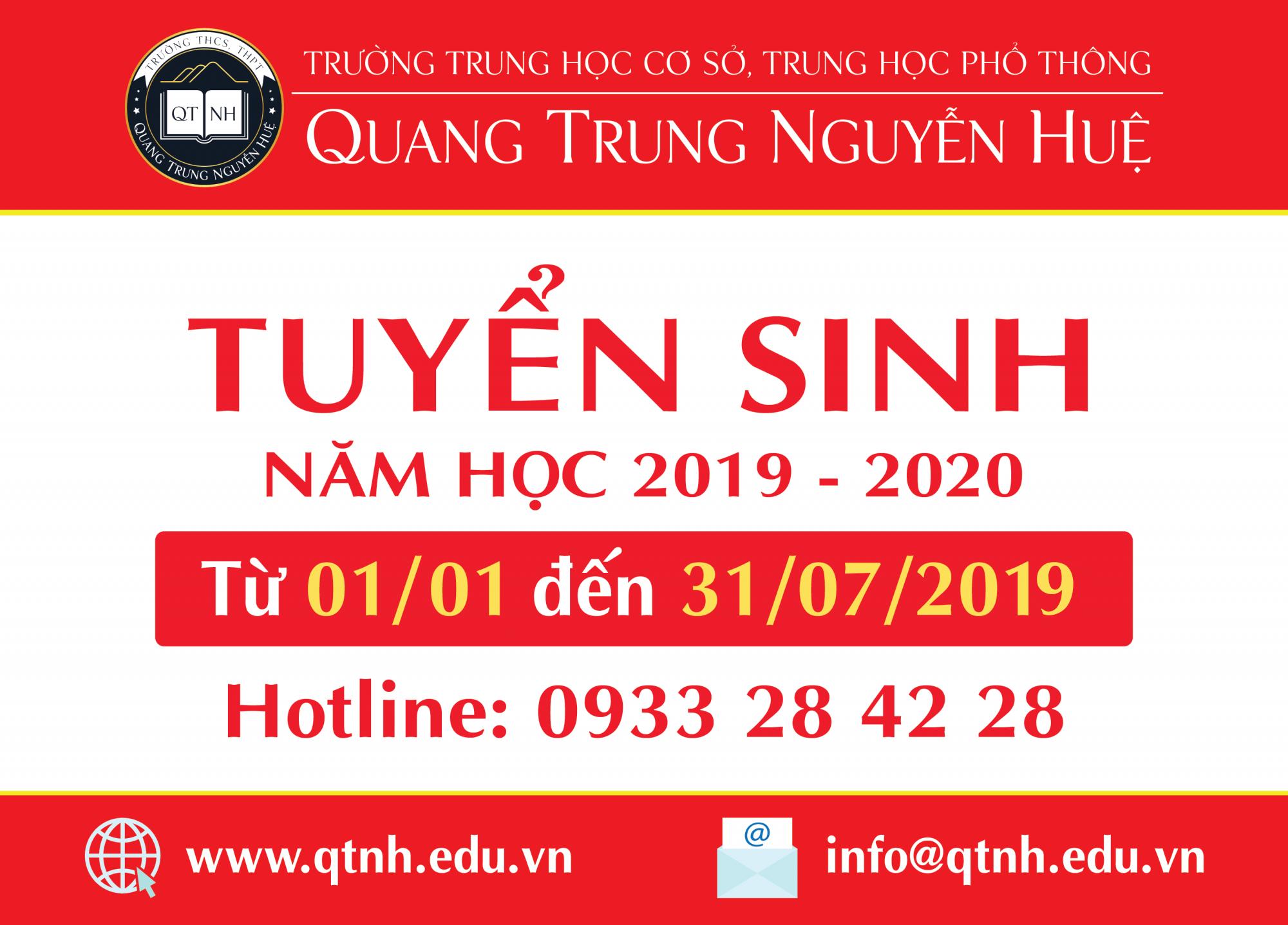 Tuyển sinh năm học 2019 - 2020