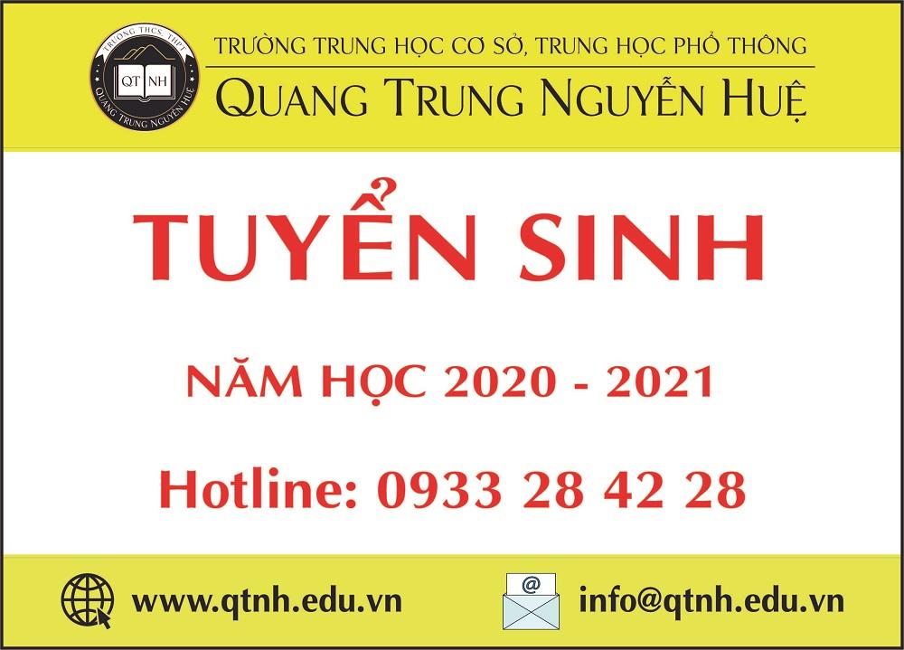 Tuyển sinh năm học 2020 - 2021